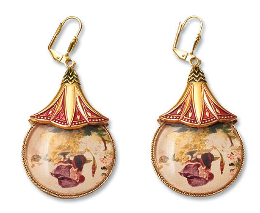 "Petra Waszak: Earrings ""Hommage à Manet"""