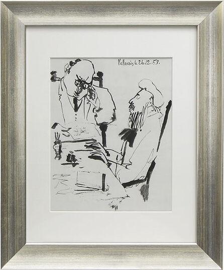 """Pablo Picasso: Bild """"Ohne Titel"""" (1953), gerahmt"""