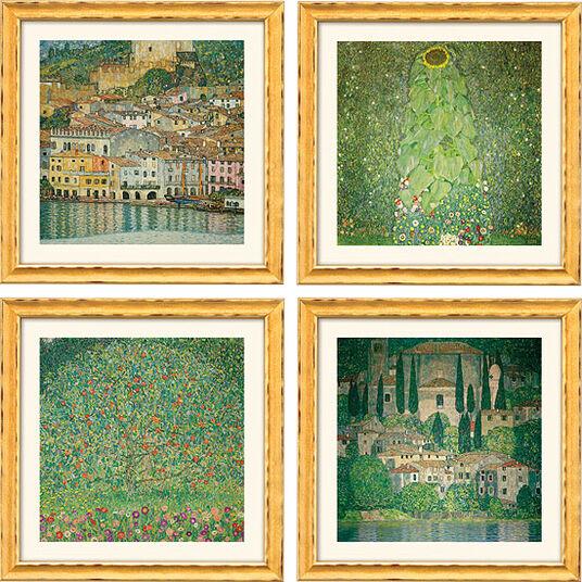 Gustav Klimt: 4 landscapes in a set