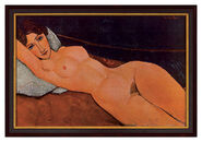 "Painting ""Female Nude Reclining on a White Pillow"", 1917"