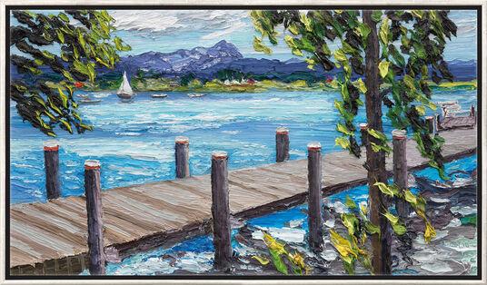"""Ben Kamili: Bild """"Der Starnberger See"""" (2016), gerahmt"""