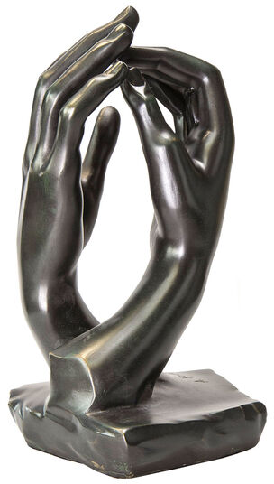 "Auguste Rodin: Sculpture ""The Cathedral"" (1908), bronze artedition"