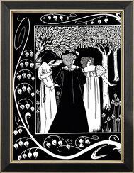 "Bild ""Lanzelot and Elaine"" (1893), gerahmt"