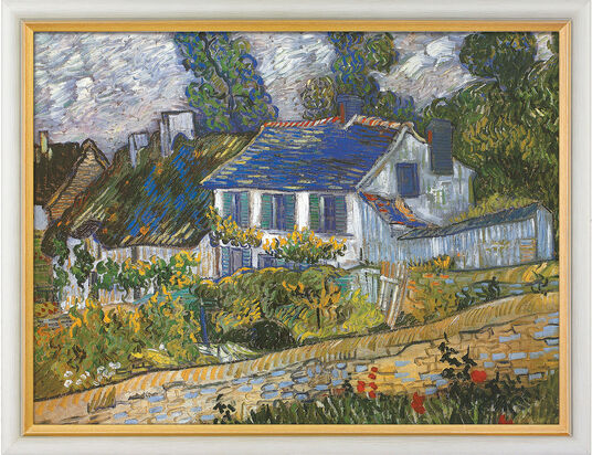 "Vincent van Gogh: Art print ""Houses in Auvers"" (1890), framed"