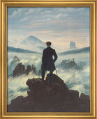 "Painting ""Wanderer above the Sea of Mist"" (1818) in a frame"