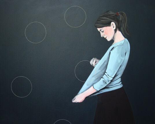 "Karoline Kroiss: Bild ""Kreise sticken II"" (2012) (Unikat)"