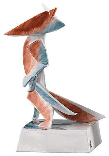 """Andreas Ehret: Porzellanskulptur """"Reineke, der Fuchs"""" - nach Goethe"""