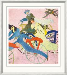 "Bild ""Draisinenfahrer"" (1910), gerahmt"
