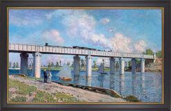 """Bild """"Die Eisenbahnbrücke von Argenteuil"""" (1873), gerahmt"""