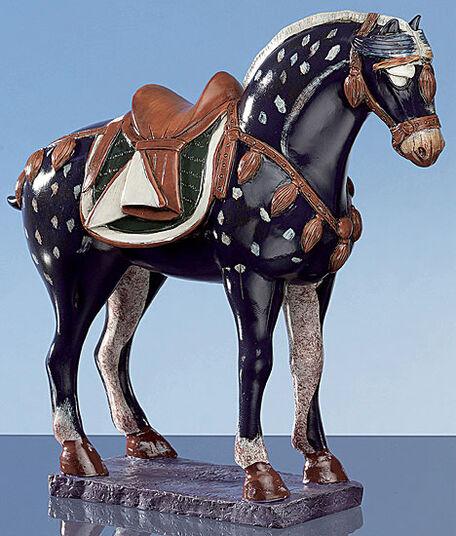 Three-colour Tang horse, blue