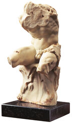 "Apollonius: Skulptur ""Torso von Belvedere"" (Reduktion), Kunstguss"