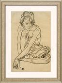 """Bild """"Kauernde"""" (1918), gerahmt"""