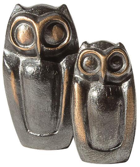 """Herbert Fricke: Skulpturen-Set """"Eulenpaar"""", Bronze"""