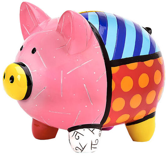 "Romero Britto: Sparschwein ""Patterned Pig"", Kunstguss"