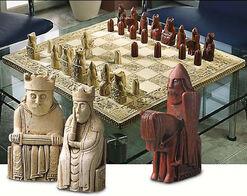 Lewis-Chess-Schachfiguren, Kunstguss