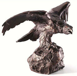 "Sculpture ""Golden Eagle"", Bronze Fine Art"