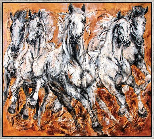"""Kerstin Tschech: Bild """"Herde"""", gerahmt"""