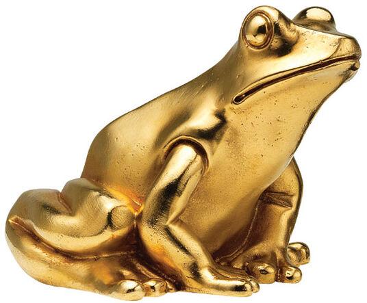 """Ottmar Hörl: Skulptur """"Froschkönig"""", Version vergoldet"""