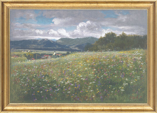 Johann Sperl: Painting 'Flowering Meadow' (1907)