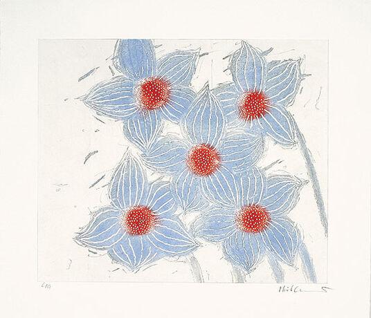 "Josef Hirthammer: Bild ""Fünfmal Blau"" (2000)"