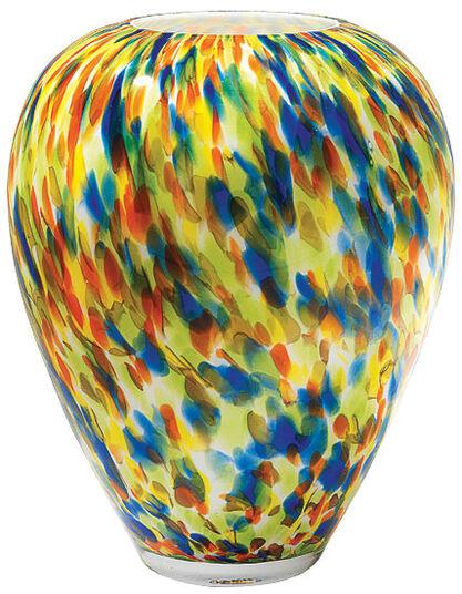 """Glass Vase """"Wild Circulos"""""""