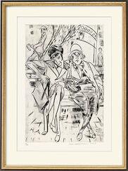 """Bild """"Auf der Parkbank"""" (1923)"""