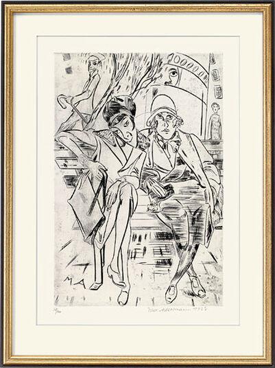 """Max Ackermann: Bild """"Auf der Parkbank"""" (1923)"""
