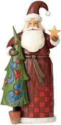 """Skulptur """"Santa with Tree"""", Kunstguss"""