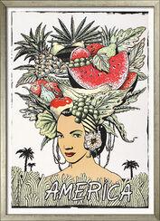 """Bild """"America"""" - aus Bildfolge """"Fünf Kontinente"""", gerahmt"""