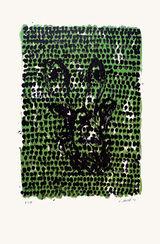 """Bild """"Grünes Tuch"""" (1990)"""