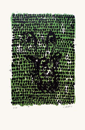 "Georg Baselitz: Bild ""Grünes Tuch"" (1990)"