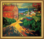 "Painting ""The Red House in Nidden"", framed"