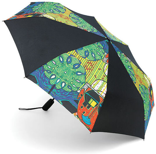 "Friedensreich Hundertwasser: (887) Collapsible umbrella ""Tropenchinese"""