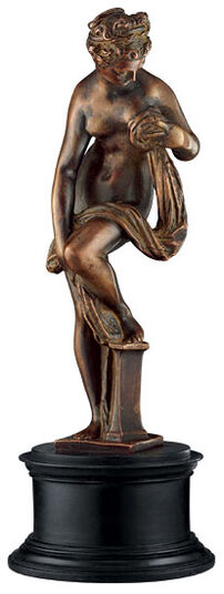 "Giovanni da Bologna: Skulptur ""Badende Venus"", Metallguss"
