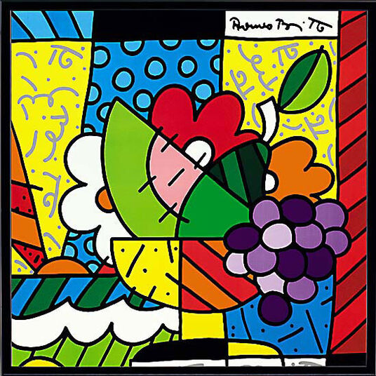"Romero Britto: Bild ""The Fruit Bowl"", gerahmt"