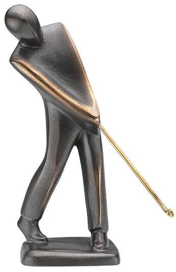"""Jutta Römhild: Sculpture """"golfer"""" (puttend), bronze"""