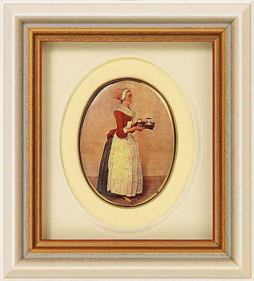 Miniature porcelain painting 'Chocolate Girl', 1743-45