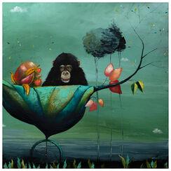 """Bild """"Die Reise des Schimpansen"""" (2015) (Unikat)"""