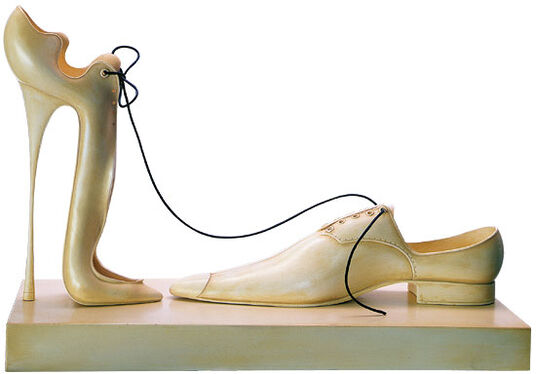 "Paul Wunderlich: Sculpture group ""A Deux"", cast stone version"