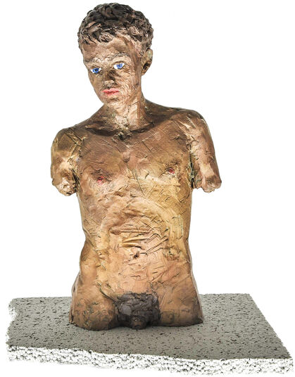 "Stephan Balkenhol: Skulptur ""Männlicher Torso"" (2011), Bronze"