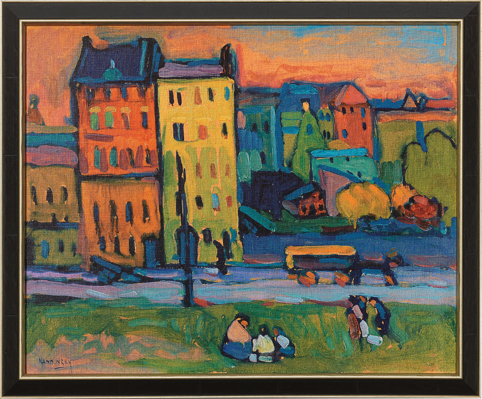 Painting houses in munich wassily kandinsky for The art of painting