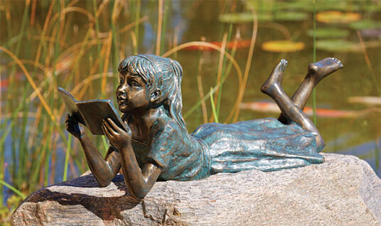"Garden Sculpture ""The Reading Girl"", Bronze"