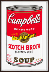 "Bild ""Warhols Sunday B. Morning - Campbell´s Soup - Scotch Broth"" (1980er Jahre)"