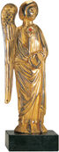 "Relief archangel ""Gabriel"", metal casting gilded"