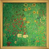"""Bild """"Bauerngarten mit Sonnenblumen"""" (1907), gerahmt"""