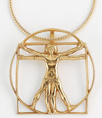 "Necklace ""Gilt scheme delle Proporzioni "", 925 Sterling silver"