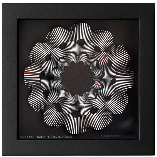 """Zeitkunst-Designuhr """"White Ribbon"""", Version als Wanduhr"""