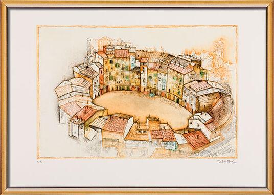 "Simon Dittrich: Bild ""Lucca"" (1998), gerahmt"