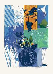 """Bild """"Blaue Vase I"""" (1995), ungerahmt"""