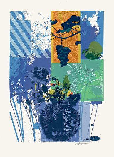 "Hassan Hashemi: Bild ""Blaue Vase I"" (1995), ungerahmt"